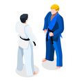Judo Fight 2016 Sports 3D Isometric vector image vector image
