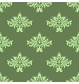 Light green floral seamless pattern vector image vector image