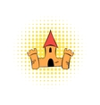 Medieval castle fortress comics icon vector image vector image