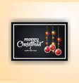 merry christmas 2019 banner template vector image