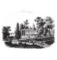 mount vernon the residence of general washington vector image vector image