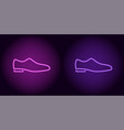 neon man shoe in purple and violet color vector image vector image