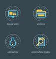 online work working inspiration information vector image