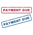 Payment Due Rubber Stamps vector image vector image