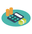 payroll icon isometric vector image vector image
