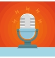 podcast icon in flat icon vector image vector image