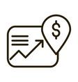 profit arrow money location pin financial business vector image vector image