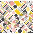 retro geometric hand drawn seamless pattern vector image vector image