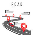 road infographic template with red vector image