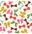 Seamless pattern with abstract various bows and vector image