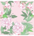 Seamless pattern with pink peonies and flowers vector image vector image
