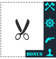 secateurs icon flat vector image