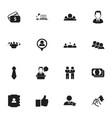set of 16 editable job icons includes symbols vector image