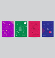 set of colored covers with minimal design and vector image