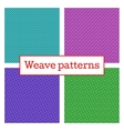 Set of geometric weave pattern in white background vector image vector image