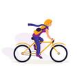 sportswoman training outdoor vector image vector image
