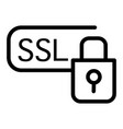 ssl security line icon certificate protected vector image vector image