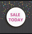 super sale and special offer paper with confetti vector image
