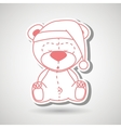 teddy sleeping design vector image vector image