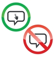 Touch message permission signs vector image vector image