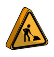 triangle caution signal icon vector image vector image