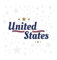 usa lettering label badge flat vector image