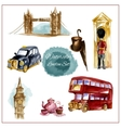 Watercolor London Set vector image vector image