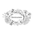 wedding card with lily flowers vintage label card vector image vector image