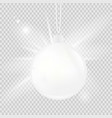 white christmas ball isolated on a transparent vector image vector image