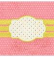 Vintage pastel frame on polka dot background vector image