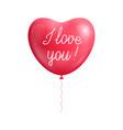 balloon heart shape declaration love isolated vector image