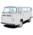 passenger and cargo van vector image