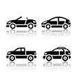 Set of transport icons - cars vector image