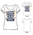sport fashion t-shirt vector image