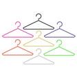set of colorful hangersund vector image