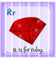 Alphabet R is for ruby vector image