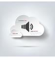 Speaker volume icon vector image