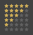 3d five stars rating icon set isolated quality vector image vector image