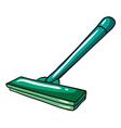 A green mop vector image