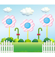 A lollipop garden vector image