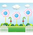 A lollipop garden vector image vector image