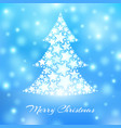 abstract christmas tree made of white stars vector image