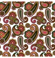 Arabic paisley pattern on white background vector image vector image