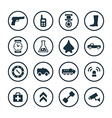 army icons universal set vector image vector image