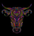 beautiful color cow vector image