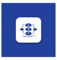 blue round button for algorithm design method vector image vector image
