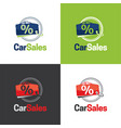 car sales logo and icon vector image
