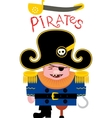 Cartoon funny pirate vector image