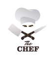 chef and knives set good for logo vector image