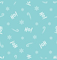 christmas seamless pattern with festive text vector image